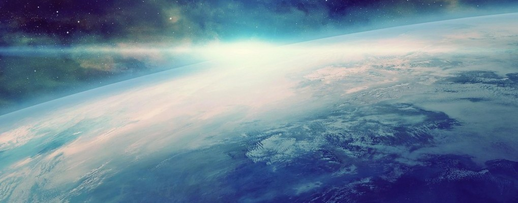 background photo of earth from space